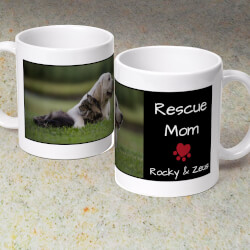 Rescue Mom - Personalized 11 Oz...
