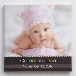 Personalized Baby Photo Canvas Art..