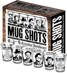 Gangster Mugshots Shot Glasses