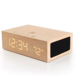 Bluetooth Wireless Wooden Alarm Clock