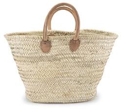 Moroccan Straw Shopper Bag