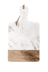 Marble and Wood Cheese Server