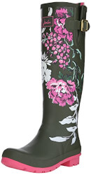 Flower Welly Print Rain Boot