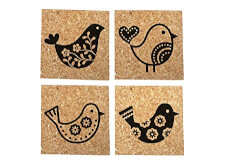 Folk Bird Coasters