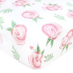 Floral Cotton Crib Sheet