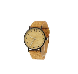 Unisex Natural Cork Wristwatch