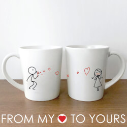 "From My Heart To Yoursâ""¢ Couple Mugs"