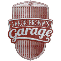 Personalized Car Grille Wall Plaque