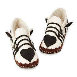 Handmade Zebra Slippers