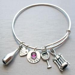 Personalized Wine Lover Bracelet