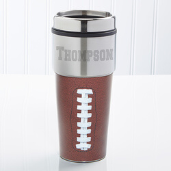 Personalized Football Travel Mug