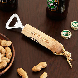 Baseball Bat Bottle Opener