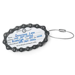 Bike Chain Luggage Tag