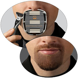 The Goatee Shaving Template