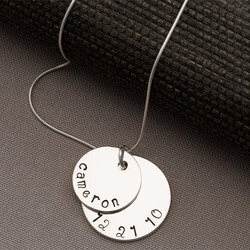 Personalized Stacking Disc Necklace