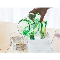Double Spouted Glass Pitcher