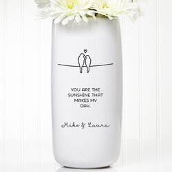 Personalized Romantic Vase