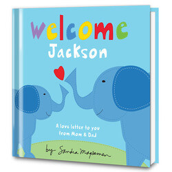 Welcome Little One Personalized Baby Book