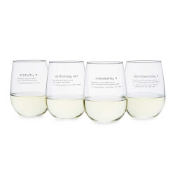Life By Definition Wine Glasses