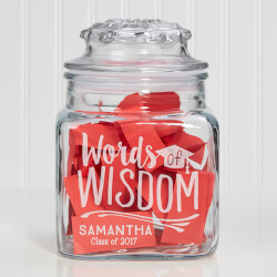Words of Wisdom Graduation Jar