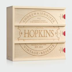 Family Vintage Anniversary Wine Box