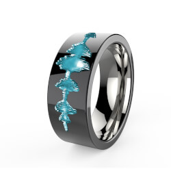 Personalized Titanium Rings from Your Voice