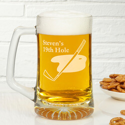 Golf Club Personalized Beer Mug