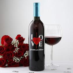 Personalized Wedding Wine Bottles
