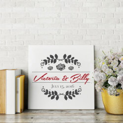 Personalized Marriage Canvas