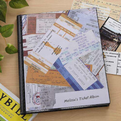 Ticket Stub Scrapbook Album