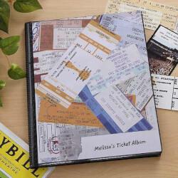 Ticket Stub Scrapbook Album