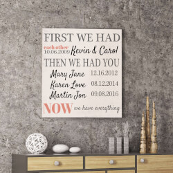Personalized First We Had Each Other Canvas