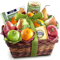 Cheese, Nuts and Fruit Basket