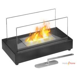Moda Flame Vigo Ventless Table Top Ethanol Fireplace in Black