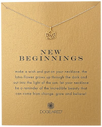 New Beginnings Rising Lotus Pendant Necklace