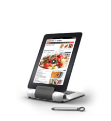 Foldable kitchen tablet stand