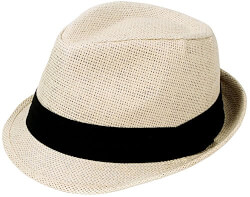 Short Brim Straw Fedora Hat