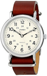 Timex Brown Leather Slip-Thru Strap Watch