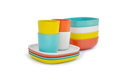 Breakfast Set of Bamboo Melamine Dishes