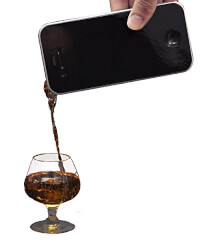iDrink Smartphone Flask