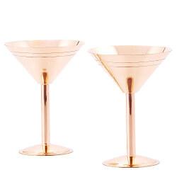 Solid Copper Martini Glasses