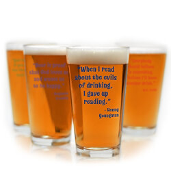 Funny Beer Quote Pint Glasses