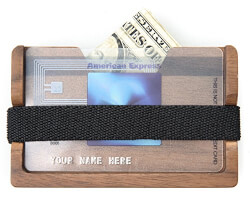 Wood Front Pocket Minimalist Wallet & Money Clip