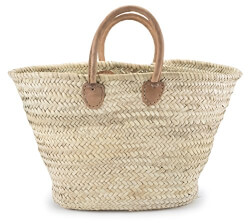 Moroccan Straw Shopper Bag