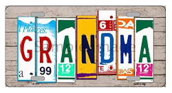 Grandma License Plate Art
