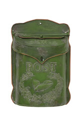 Green Tin Post Box