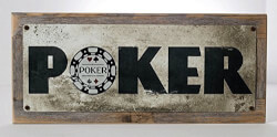 Framed Poker Metal Sign