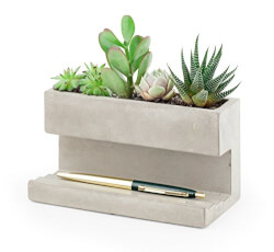 Concrete Desk Planter