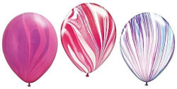 Balloons with Agate Striped Stone Design