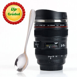 Coffee Mug - Camera Lens Travel Thermos